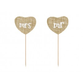 Toppery Mr Mrs, 18,5 Cm Partydeco